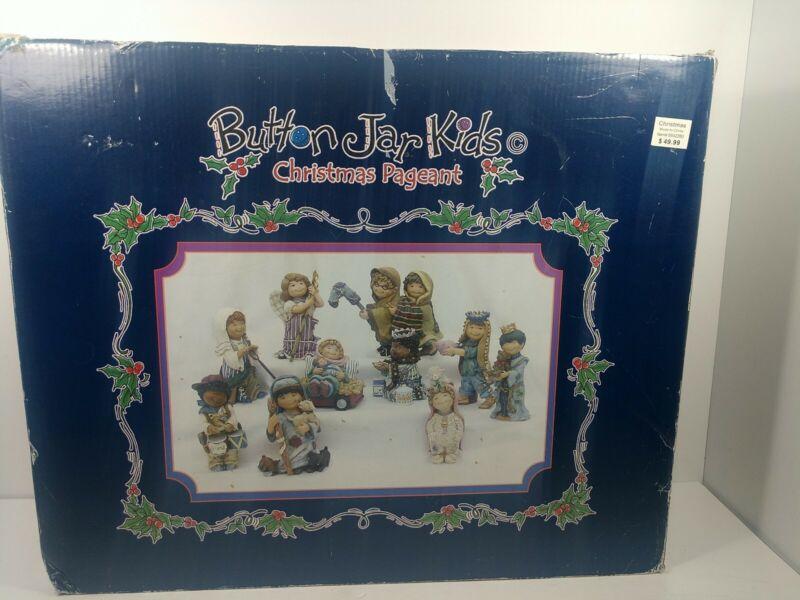 Button Jar Kids Christmas Pageant Nativity Set Figures