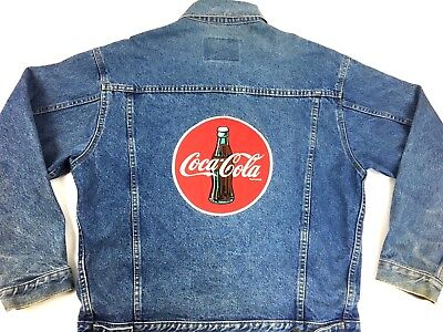 Vintage Denim Jacket Coca Cola Denim Jacket 90s Jacket Blue Jean Coke Jacket M