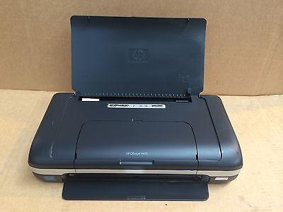 HP OfficeJet H470b H470 Portable Bluetooth USB InkJet Printer Warranty NO INK/PS