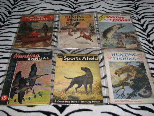 6 Vintage Outdoor Magazines 1929-1951