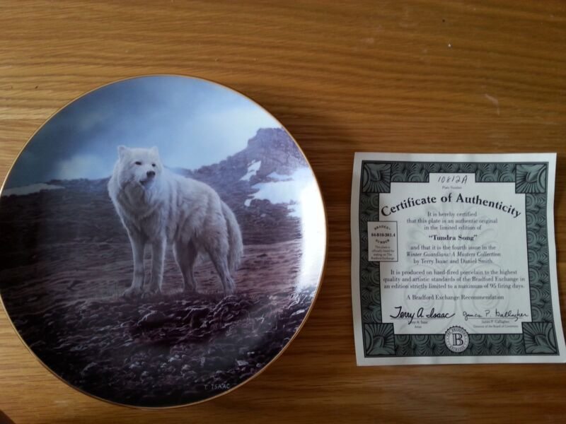 "Bradford Exchange ""Tundra Song"" Winter Guardians collector plate"