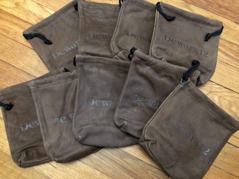 Dewars 12 Scotch Leather Poutch 9 Bags