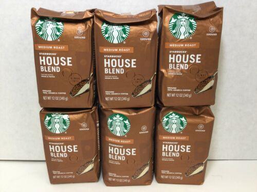 Starbucks House Blend Ground Coffee Medium Roast 4.5LBS, CASE OF 6, 02/2021