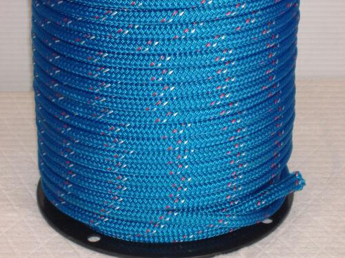 "Double Braid Polyester 1/2""x 300 feet yacht braid halyard line blue"