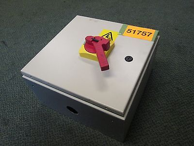 Preco Enclosed Disconnect Switch Sl5000-1400-1-3335 380v 3ph 50hz 45a Used