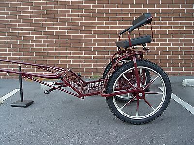 "2-wheel mini-cart for miniatrure horses & small ponies rim16' wheel21"" Burgundy"