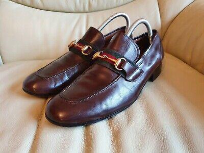 Gucci Mens Shoes Brown Gold Horsebit Loafers UK 8   US 9    EU 42    Vintage