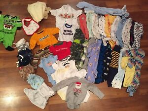 Newborn-3 month baby boy clothing lot