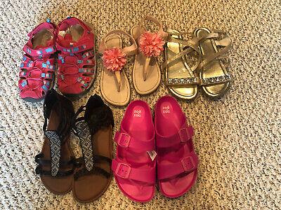 Girls Size 5 Sandal Shoe Lot