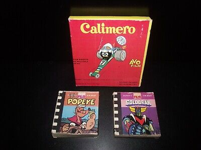 Vintage Lot de Films Super 8 - Goldorak - Popeye - Calimero