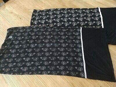 Kickee Pants Pillowcases Black Pink Bicycle Print Bamboo Set Of 2