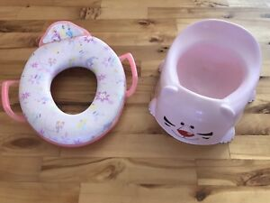 Potty pots and toilet seat