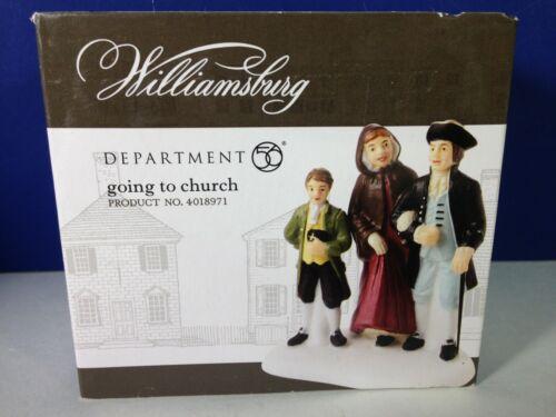 Dept 56 Williamsburg GOING TO CHURCH 4018971 Brand New! RARE!