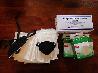 Augenpflaster + Kompressen und Augenklappe