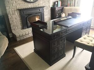 Bombay Company Stanton desk with glass top