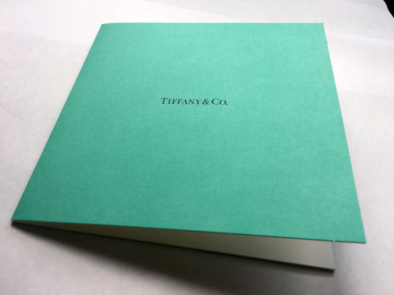 Tiffany & Co. Stationary Gift Card Holder | eBay