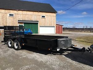 16' TANDEM LANDSCAPE TRAILER WITH 12 000 POUND AXLES