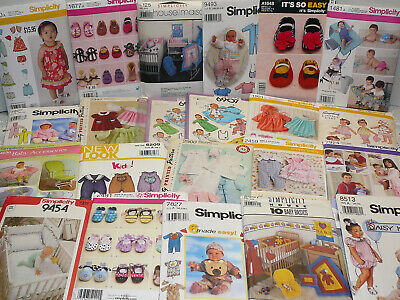 Simplicity Sewing Patterns - Infants, Baby's, Toddler's - Uncut, U-Pick Lot -