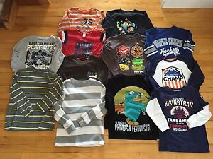 Lot of boys long sleeve shirts -- size 6/7