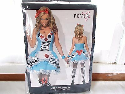 New Fever miss Wonderland Halloween Costume Size Med. 10-12 Blue Role Play - Alice In Wonderland Play Costumes