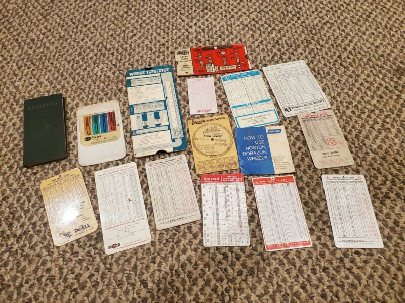 Lot Of Vintage Mechanic Machinist Pocket Reference Book Cards Sheets References