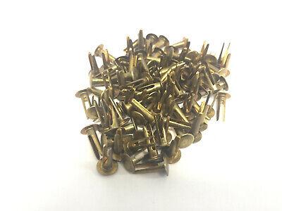 Lot Of 100 National Rivet Ms35685-13 National Brass Split Rivet Hole Size 0.141