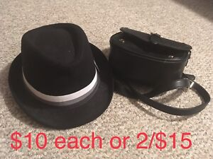 Bowler hat & TopTen purse in excellent condition!