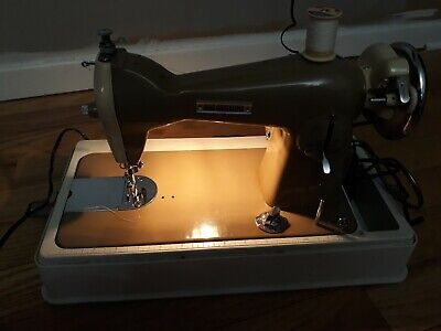 Rare Good Housekeeper Deluxe Electric Sewing Machine 1956 Model TML Near Mint!