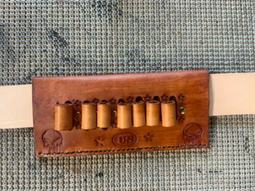 38/357 Ammo Bracelet Handmade Leather 7rds cartridge holder