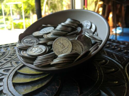 5 Five Standard Ounces 90% Silver Washington Quarters *NO JUNK* $6FV Coin Lot