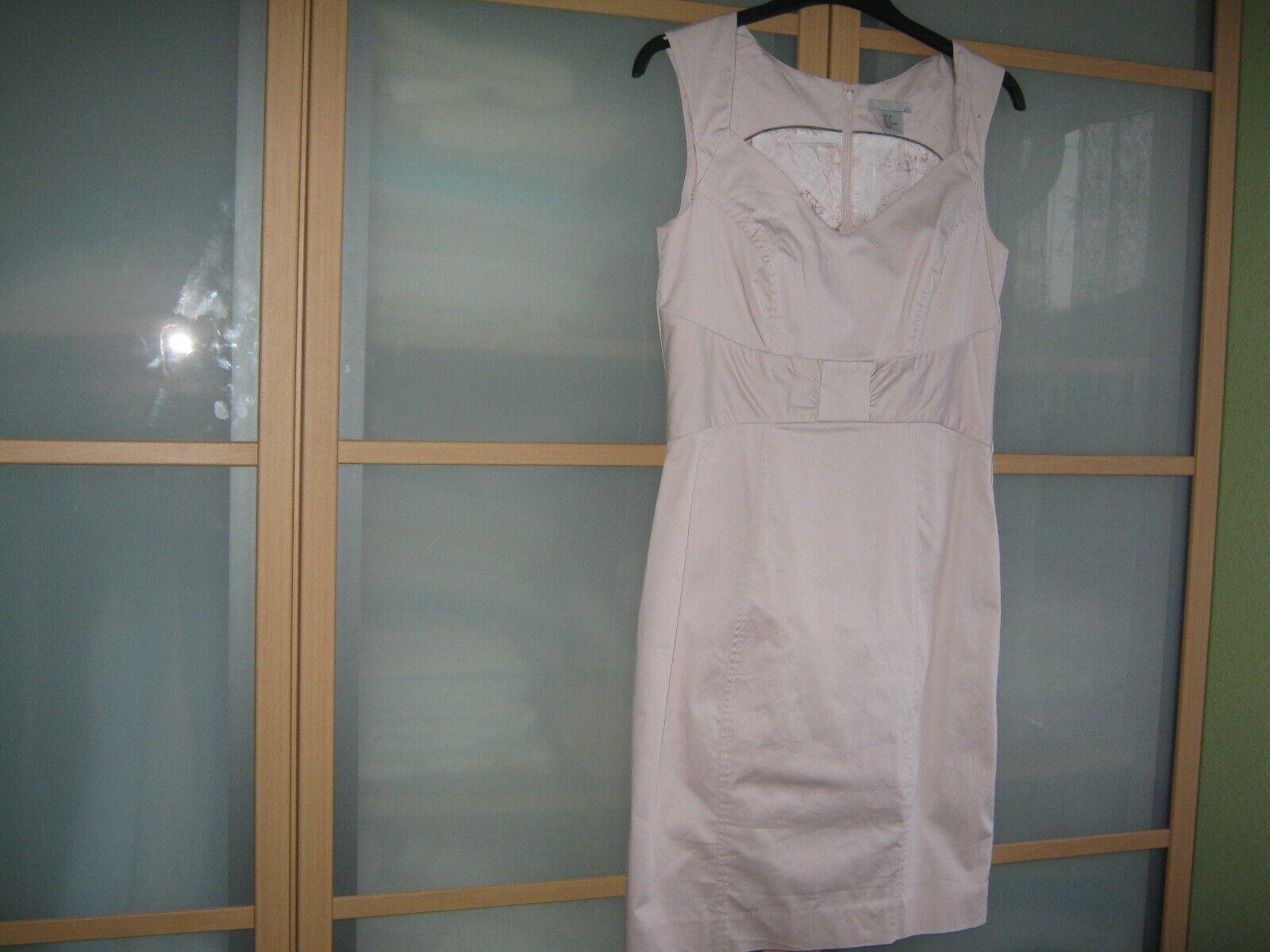 H&M Damen Sommerkleid sportlich mit Futter- beige/rosa hell Ton -TOP! - Gr. 38