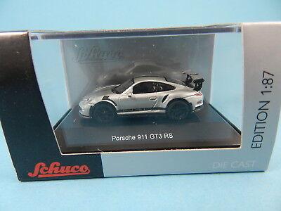 SCHUCO 26307 PORSCHE 911 GT3 RS SILBER 1:87
