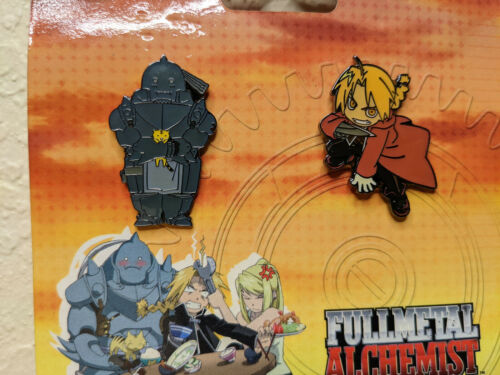 Fullmetal Alchemist Edward and Alphonse Enamel Pins. 2006 Rare FUNimation Merch