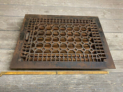 """NOS COPPER Louvered  Kitchen Fridge Sink Cabinet  Floor Wall Air  VENT  9.5/""""X 3/"""""""