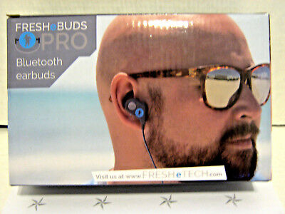 FRESH e BUDS PRO BLUETOOTH EARBUDS, NOISE-CANCELLING MAGNETIC ATTRACTION NEW Blue Noise Canceling Ear Buds