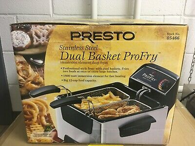 Presto 05466 Stainless Steel  Dual Basket ProFry Immersion Element Deep