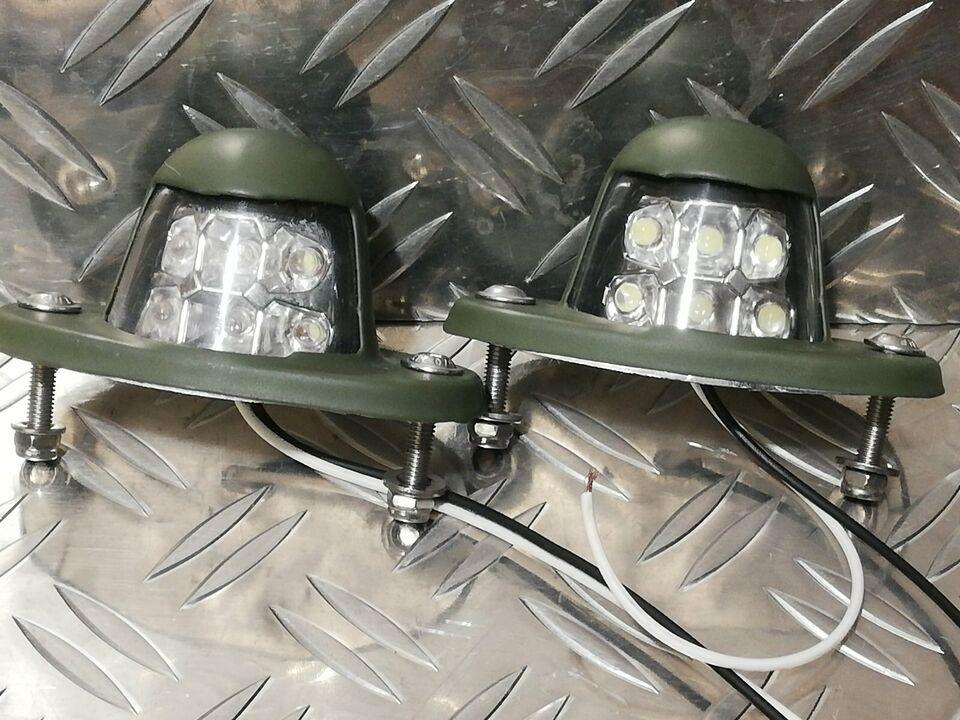 2 x Nato BW Wolf Unimog 12/24 V LED Tarnleuchte, Kennzeichenleuch in Rheinland-Pfalz - Malberg