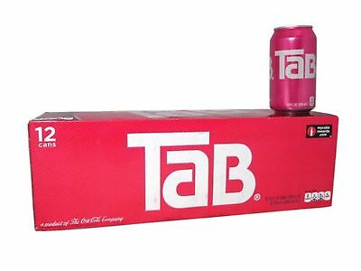 Tab Diet Cola Soda  12 Ounce  12 Cans