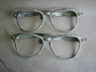 Vtg 2 Jumbo Giant Clown Glasses Grey