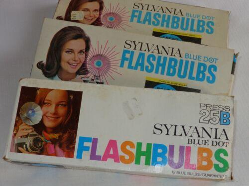 NOS Sylvania Blue Dot Flash Bulbs 25B