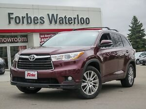 2014 Toyota Highlander 1 OWNER!! XLE/LEATHER/SUNROOF/NEW TIRES &