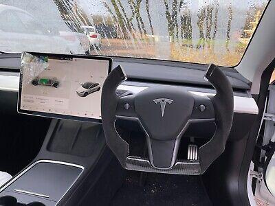 Tesla Model 3 Custom Carbon Fibre Yoke Steering Wheel