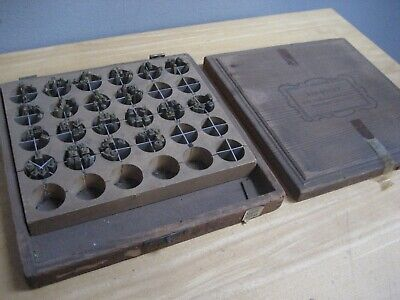 Vintage Kingsley Numbers Hot Foil Machine Type Letters A