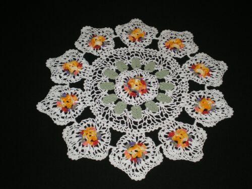 New Handmade  Crocheted Doily Flowers/Rose