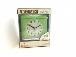 Vintage Westclox Big Ben Twilight Alarm Clock Night Light Model #43002 Green
