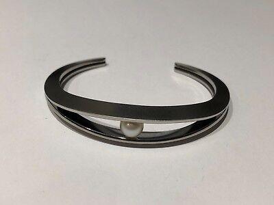 Nuevo - Pulsera Esclava de Acero - Steel Bracelet - Con Perla - With Pearl segunda mano  Almoster