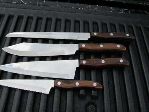 4 Chefco Japan made Full Tang Great Knives Sandwich, Butcher, French Cook, Slice