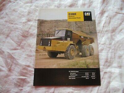 Caterpillar Cat D300e Articulated Truck Brochure