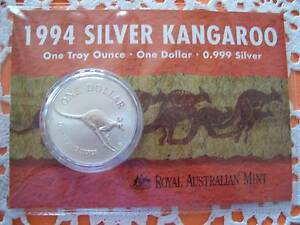 1994 Silver Kangeroo Troy Ounce Mint/Uncirculated Berrara Shoalhaven Area Preview