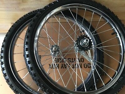BIKE WHEELS 20 x 1.75 / 2.125 COASTER BRAKE & FRONT  W/ TIRES  MOUNTED NEW  ()